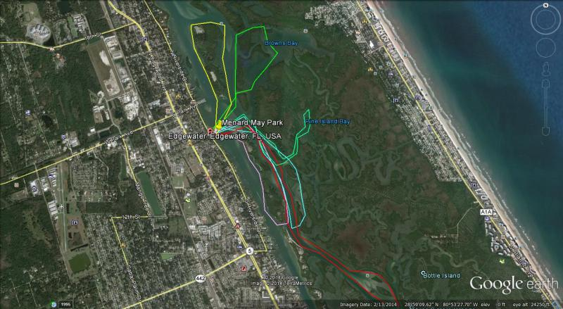 Florida Rails To Trails Map.Edgewater Paddling Trails Edgewater Florida
