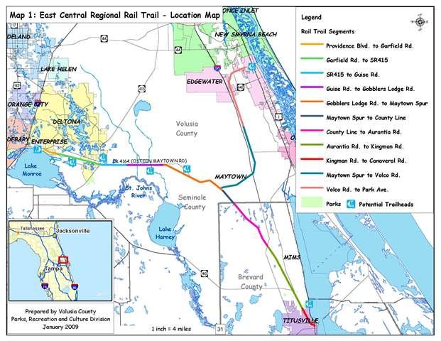 East Coast Regional Rail Trail | Edgewater Florida on